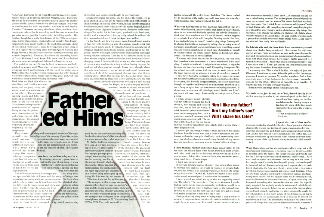 204d1b0ec5f8cb Article about a father's suicide, second spread