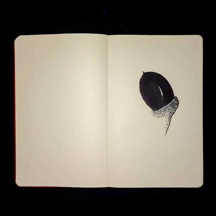 Acorn inktober